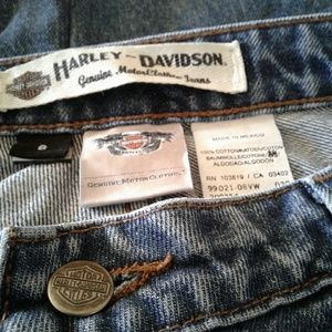 🌺 Womens Nearly New Harley Davidson Relaxed Jeans
